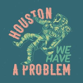 Ilustração de astronauta com letras