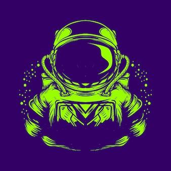 Ilustração de astronauta isolado