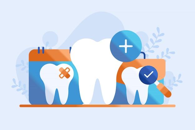 Ilustração de atendimento odontológico