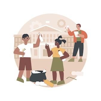 Ilustração de atividades depois da escola