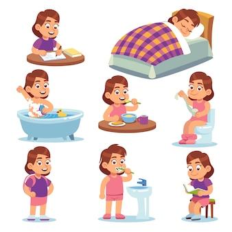 Ilustração de atividades diárias