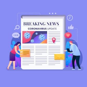 Ilustração de atualização do coronavirus