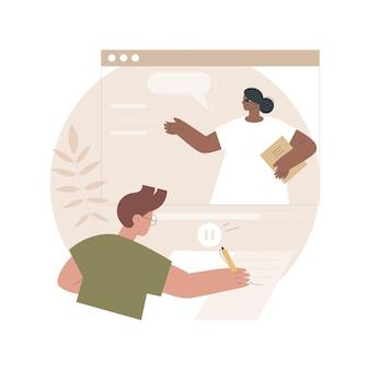 Ilustração de aulas gravadas