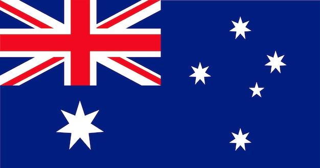 Ilustração, de, austrália, bandeira