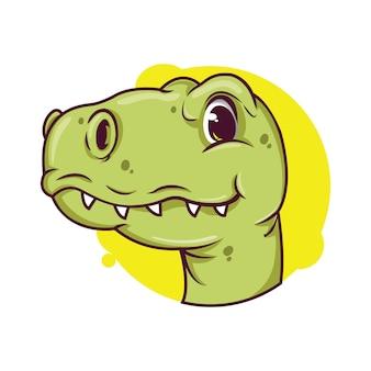 Ilustração de avatar bonito dino
