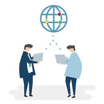 Ilustração de avatar de rede