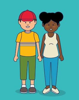Ilustração de avatares de pessoas multiculturais