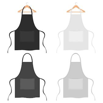 Ilustração de avental elegante cozinha isolada no branco