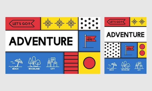 Ilustração, de, aventura, conceito