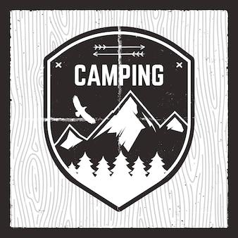 Ilustração de aventura em acampamento