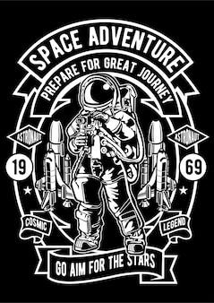Ilustração de aventura espacial