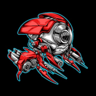 Ilustração de avião alienígena