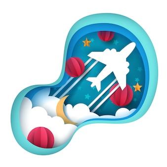 Ilustração de avião de papel