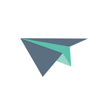 Ilustração, de, avião papel