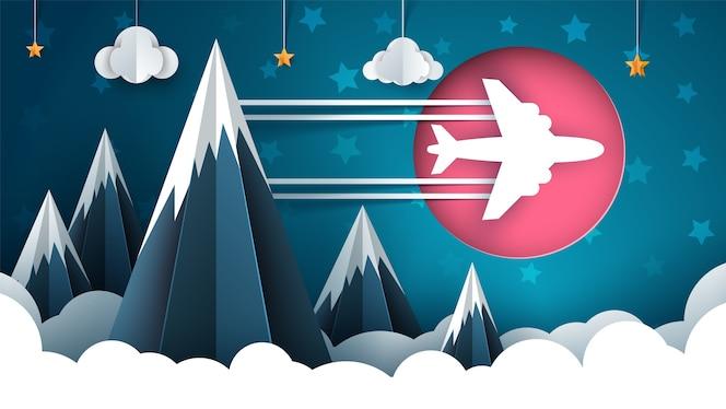 Ilustração de avião