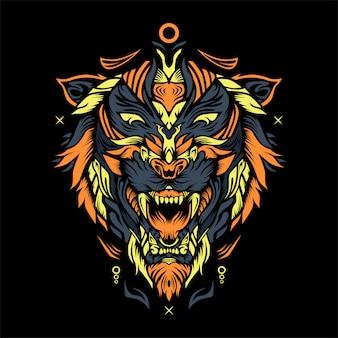 Ilustração de axa de tigre