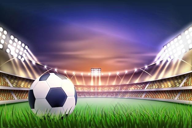 Ilustração de backgroud da tribuna do estádio de futebol de futebol