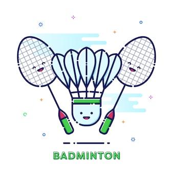 Ilustração de badminton