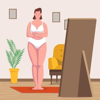 Ilustração de baixa autoestima