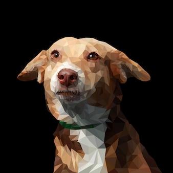 Ilustração de baixo poli cão