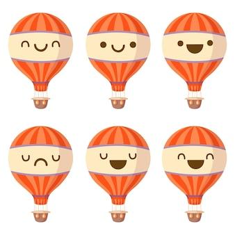 Ilustração de balão de ar kawaii