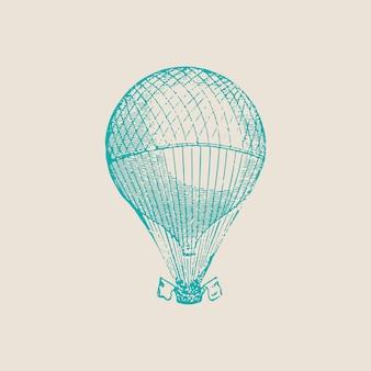 Ilustração de balão de ar quente vintage