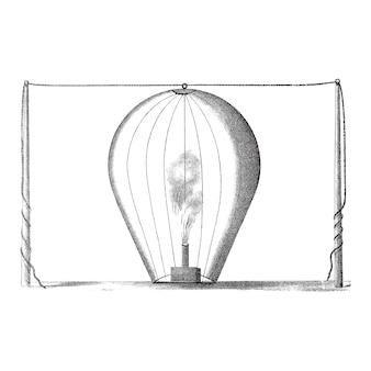 Ilustração de balão vintage