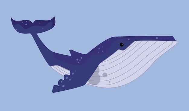 Ilustração de baleia
