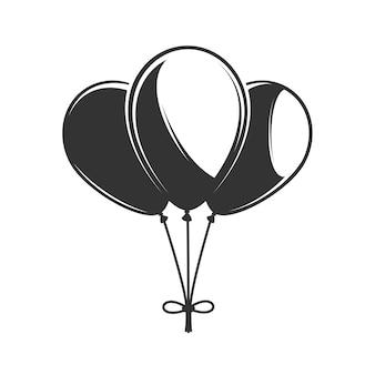 Ilustração de balões desenhada à mão