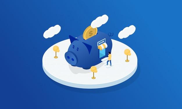 Ilustração de banca de finanças