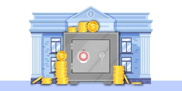 Ilustração de banco financeiro