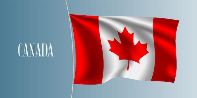 Ilustração de bandeira acenando canadá