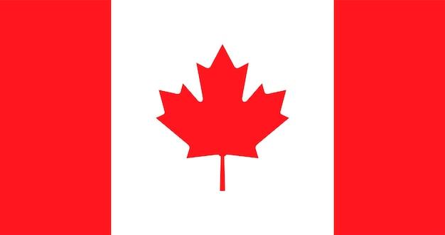 Ilustração, de, bandeira canadá