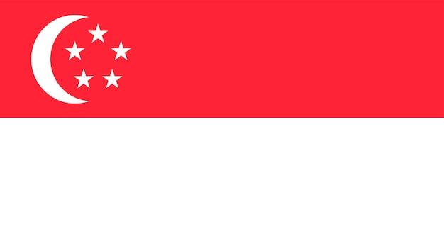 Ilustração, de, bandeira cingapura