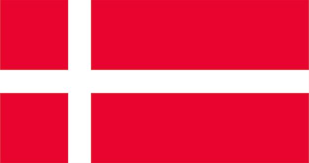Ilustração, de, bandeira dinamarca