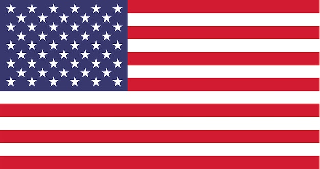 Ilustração, de, bandeira eua