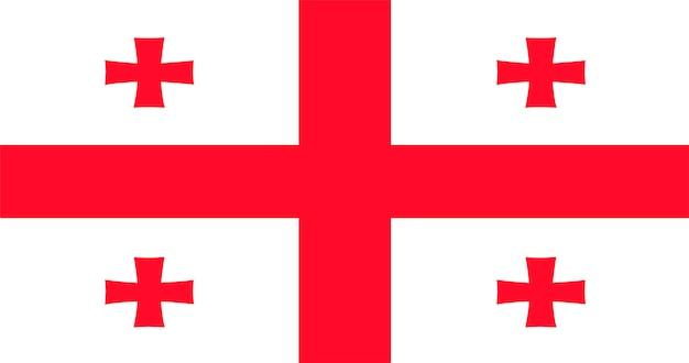 Ilustração, de, bandeira geórgia