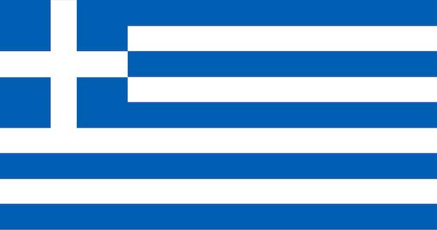Ilustração, de, bandeira grécia