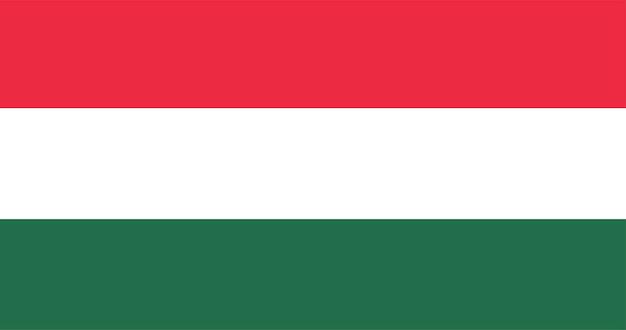 Ilustração, de, bandeira hungria