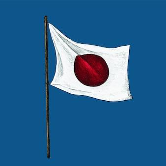 Ilustração, de, bandeira japonesa