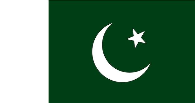 Ilustração, de, bandeira paquistão