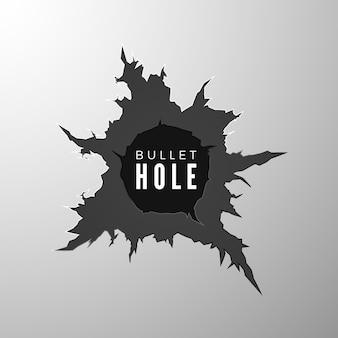 Ilustração de banner com buraco de bala