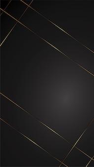 Ilustração de banner de fundo preto de luxo com gradiente de ouro arte deco preto