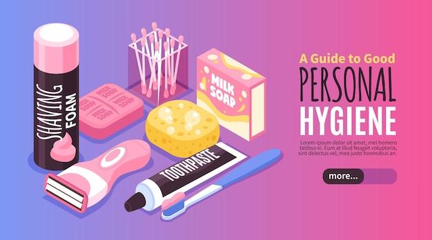 Ilustração de banner de higiene pessoal