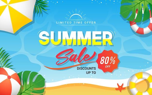 Ilustração de banner de venda de verão