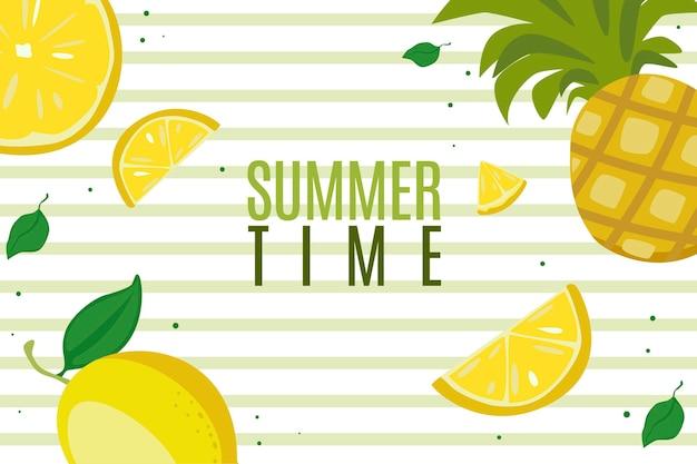 Ilustração de banner fofa de verão