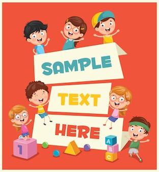 Ilustração de banner infantil