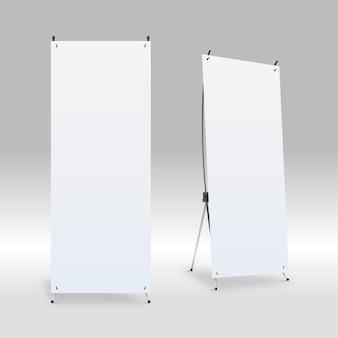 Ilustração de banners de suporte x