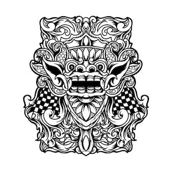 Ilustração de barong bali