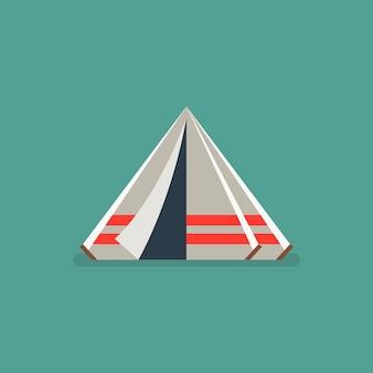 Ilustração de barraca de acampamento